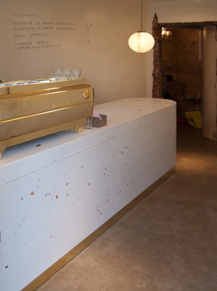 Terrazzo Tresen Dokuwa material raum form Moderne Gastronomie Beton