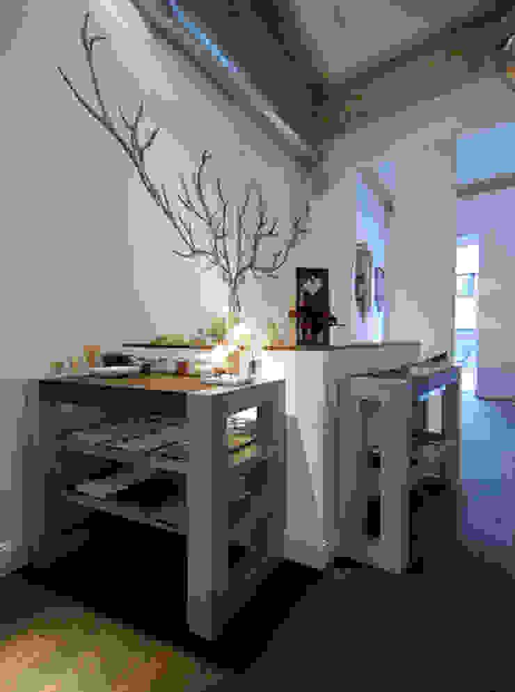 Beton in Tischen material raum form Moderne Gastronomie
