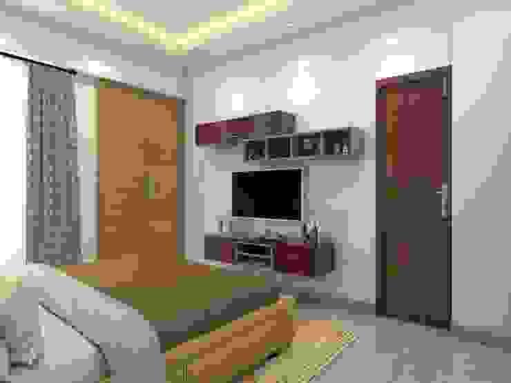 Minimalistic tv unit Minimalist bedroom by Lakkad Works Minimalist