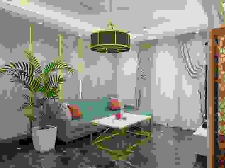 Living area Sofa and center table Minimalist living room by Lakkad Works Minimalist