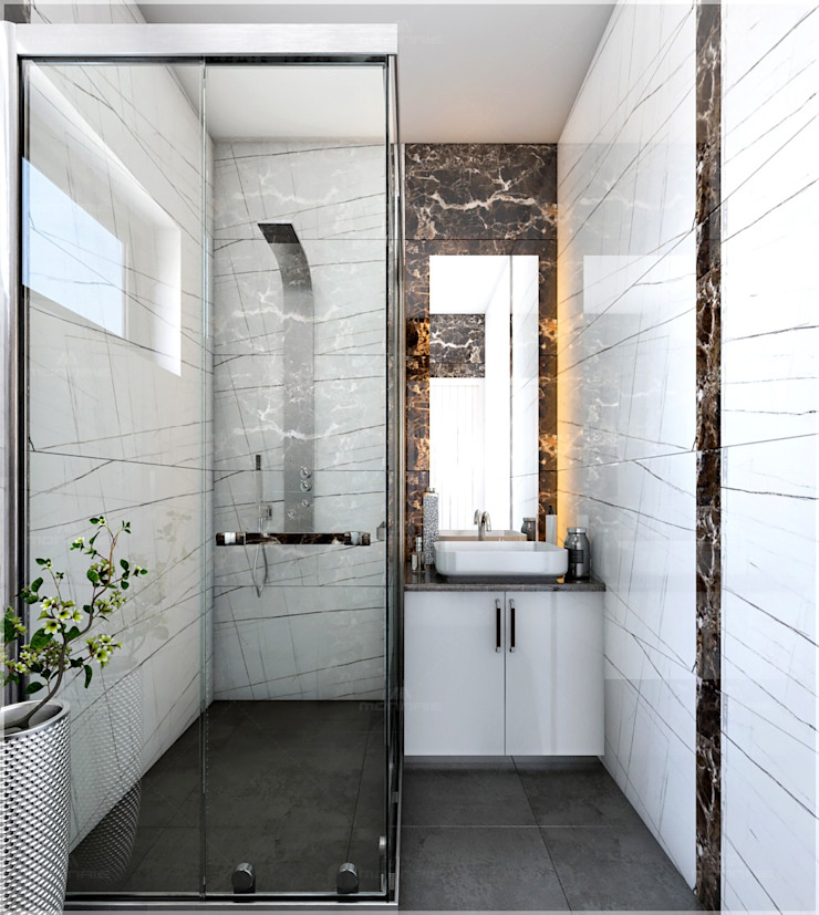 Bathroom Design styles Premdas Krishna BathroomBathtubs & showers Wood Wood effect