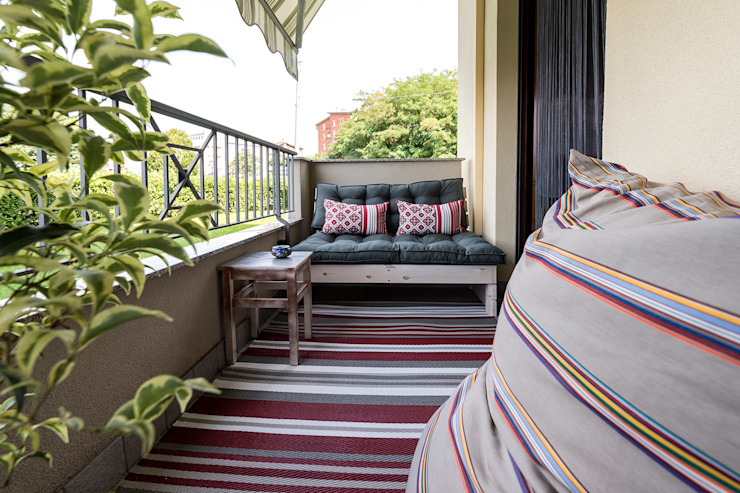 Terrazzo Balcone, Veranda & Terrazza in stile moderno di Essestudioarch Moderno