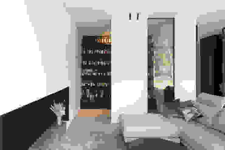 Niko Wauters architecten bvba Salas de estilo minimalista Blanco