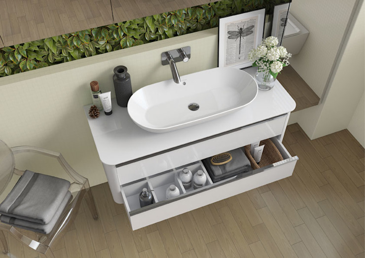Melissa vilar BathroomMedicine cabinets Wood-Plastic Composite White