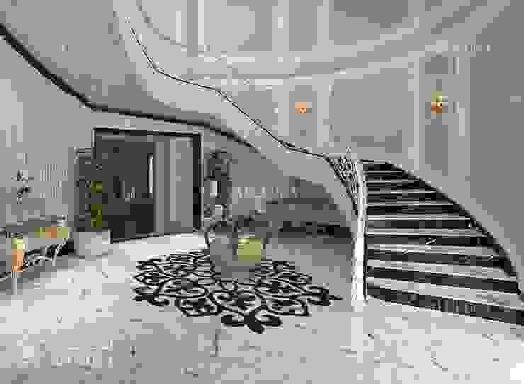أفكار تصميم مدخل فيلا Algedra Interior Design درج