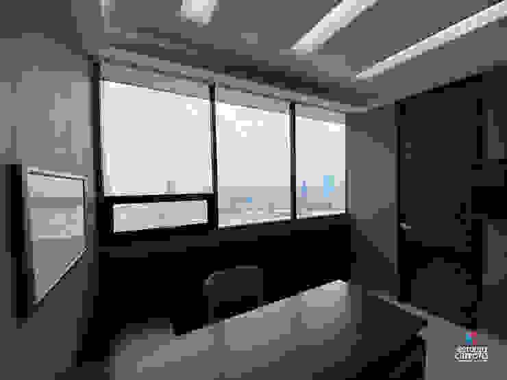 Área de oficina Estudio Chipotle Clínicas / Consultorios Médicos Compuestos de madera y plástico Negro