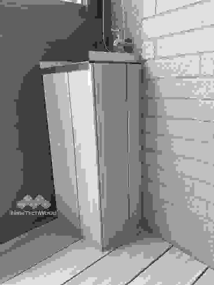 【煙灰白演藝低調明淨|採光陽台】 新綠境實業有限公司 Balcony Wood-Plastic Composite White