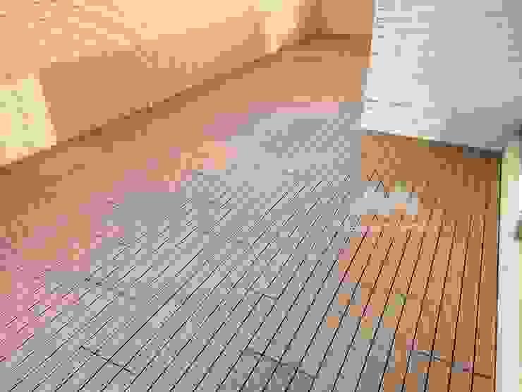 【#陽光露臺大變身-快組地板的魔法】 新綠境實業有限公司 Patios & Decks Wood-Plastic Composite Wood effect