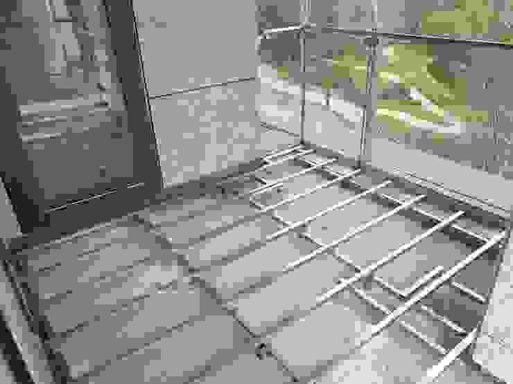 【胡桃色演藝沉穩質感|解憂陽台】 新綠境實業有限公司 Balcony Wood-Plastic Composite Wood effect