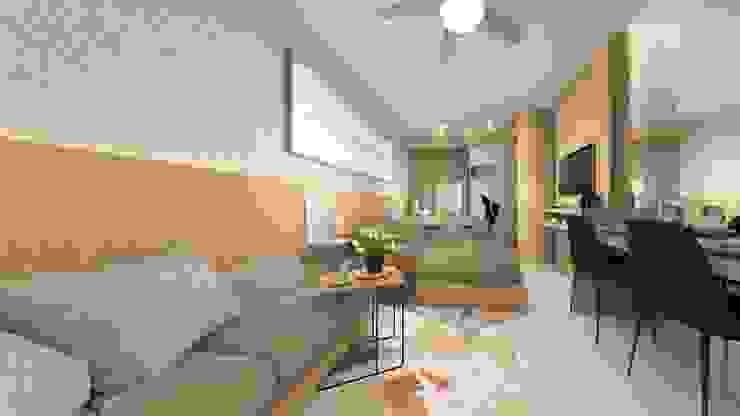 Shore Residences Project Quadraforma Construction Minimalist bedroom Wood effect