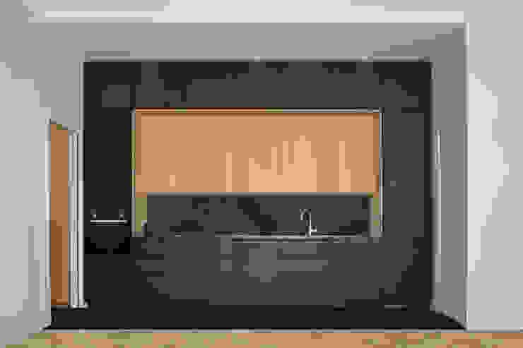 Petit appartement - Cuisine ouverte A comme Archi Cuisine moderne Noir