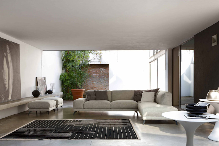 Arredo salotto con divano moderno con penisola angolare TopArredi Soggiorno moderno