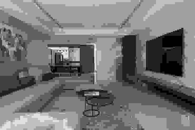 客廳與餐廳的銜接 禾廊室內設計 Living room