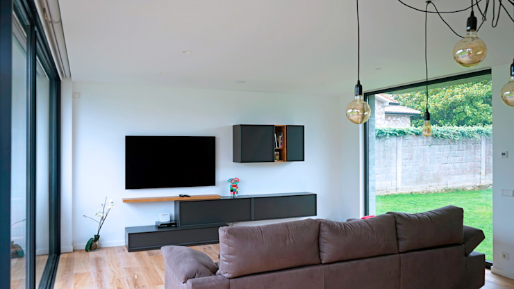 AD+ arquitectura Modern Living Room Wood
