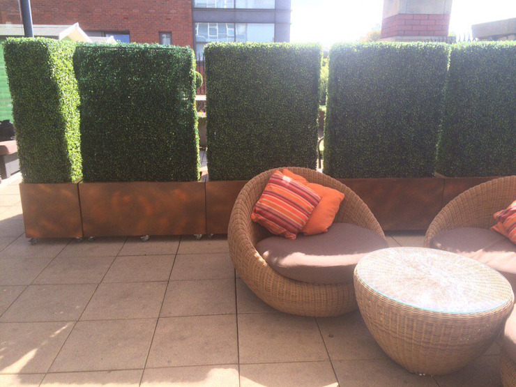 Boxwood Planters as Space Dividers by Sunwing Industries Ltd Modern Wood-Plastic Composite