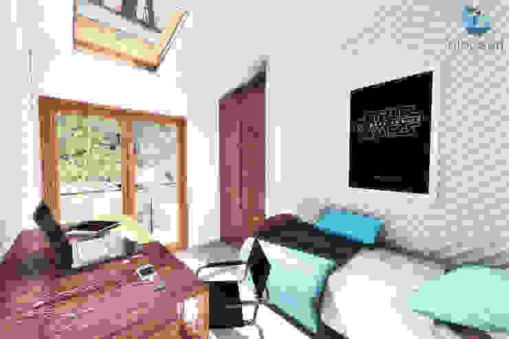Diseño de casa en Huachocopihue, Valdivia NidoSur Arquitectos - Valdivia Dormitorios pequeños