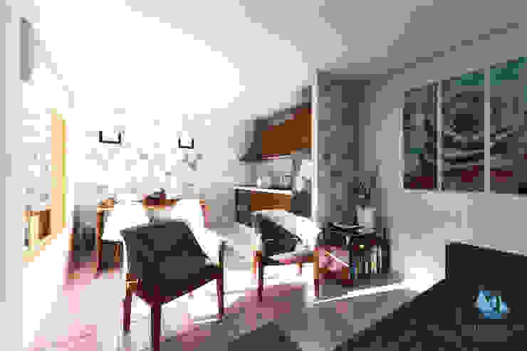Diseño de casa en Huachocopihue, Valdivia NidoSur Arquitectos - Valdivia Livings de estilo moderno