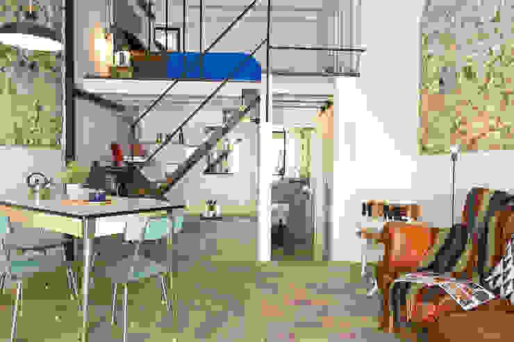 Industrial Vintage in centro a Cagliari Benedetta Losito - Home Staging & Redesign Soggiorno in stile industriale