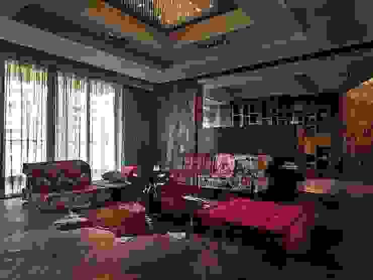 上海文人書齋 大湖森林室內設計 家庭劇院 木頭