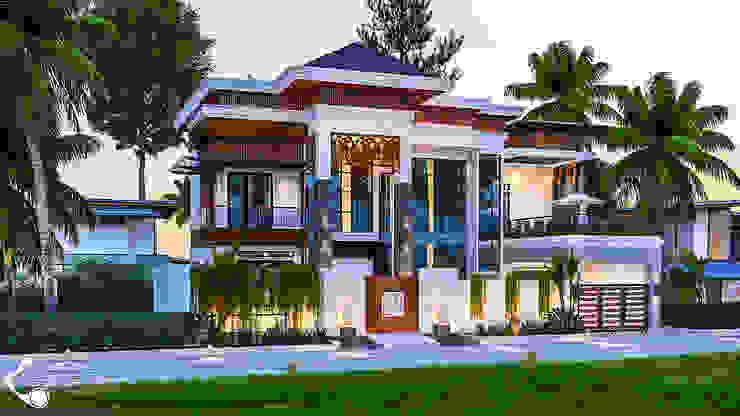 Desain Rumah Konsep Tropis PT. Vector 41 Villa