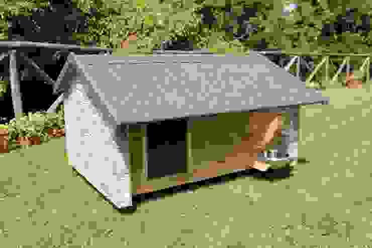Cuccia da esterno ispirata a casa di Pet House Design® Moderno Legno composito Trasparente