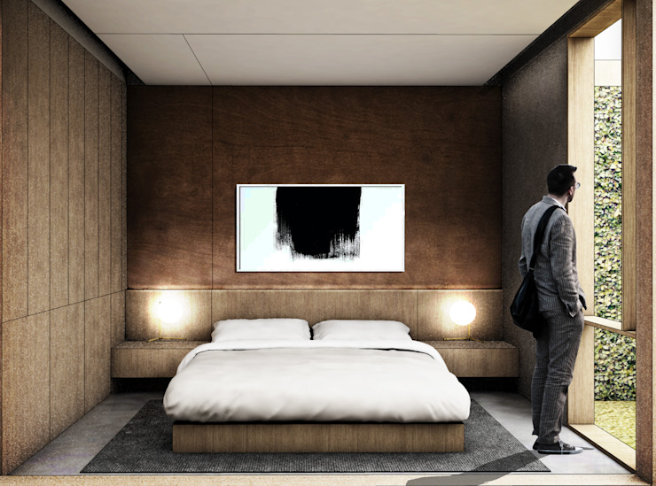 F House studioreka architect Kamar Tidur Modern