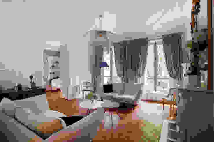 Salon Haussmanien MISS IN SITU Clémence JEANJAN Salon original Bois Beige