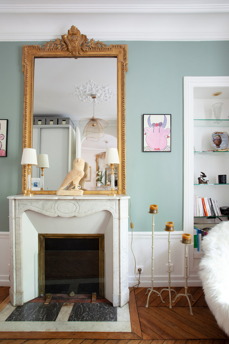 Salon boudoir haussmanien MISS IN SITU Clémence JEANJAN Salon original Vert