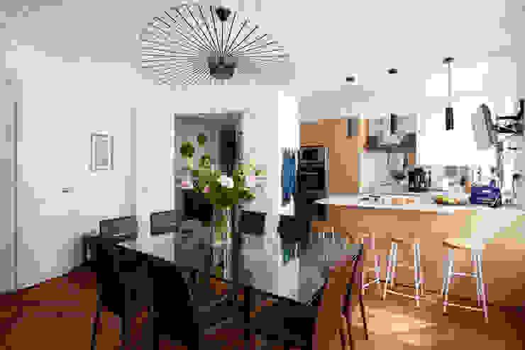 salle à manger - cuisine appartement haussmanien MISS IN SITU Clémence JEANJAN Salle à manger originale Blanc