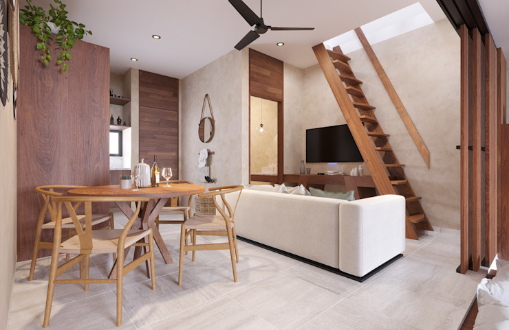 Living tipo 2 Taller Veinte Salones modernos