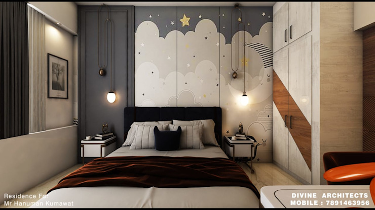 divine architects Classic style bedroom