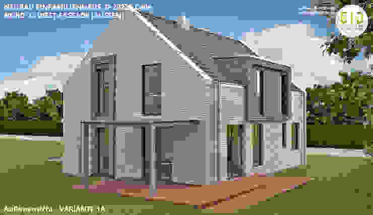 EFH-Celle, Gebäudeansicht Nord-West - VARIANTE 1A von GID│GOLDMANN-INTERIOR-DESIGN - Innenarchitekt in Sehnde Modern Stein
