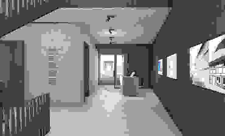FISCHER & PARTNER lichtdesign. planung. realisierung Corredores, halls e escadas modernos