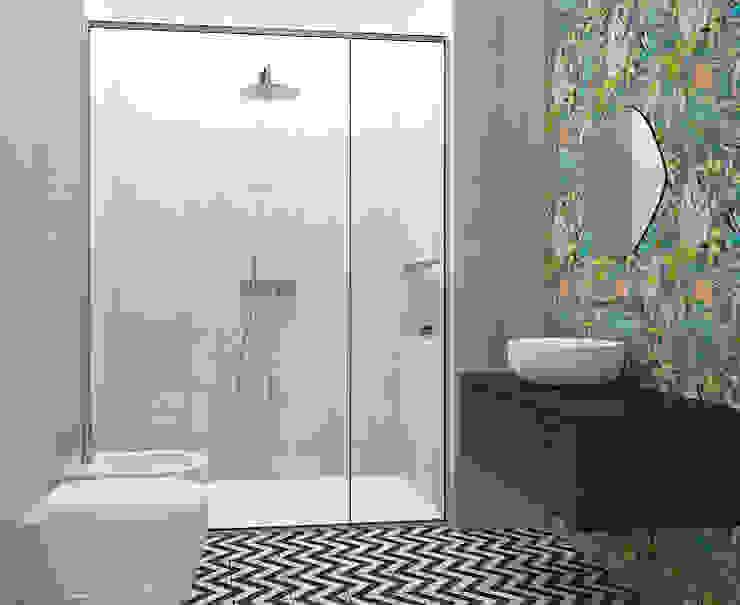 Studio Zay Architecture & Design Kamar Mandi Gaya Eklektik Keramik Green
