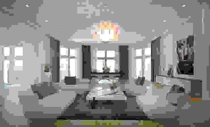 FISCHER & PARTNER lichtdesign. planung. realisierung Modern Living Room