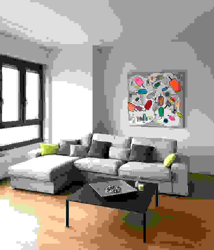 Zona Living Soggiorno eclettico di Studio Zay Architecture & Design Eclettico Legno massello Variopinto
