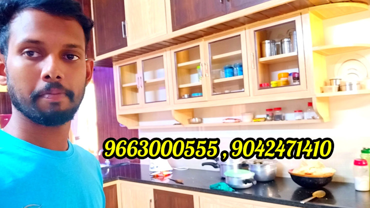 Low Cost PVC Modular Kitchen In Coimbatore 9042471410 balabharathi pvc interior design KitchenCabinets & shelves Plastic Wood effect