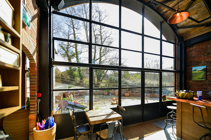 Sedlescombe Vineyard, East Sussex Clement Windows Group Eclectic style gastronomy Metal