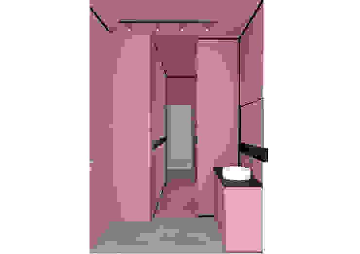 Ristrutturazione di una villa privata ebarchitecture Bagno moderno Ceramica Rosa