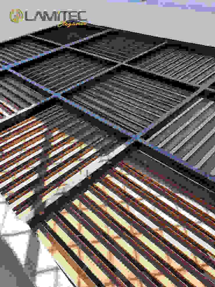 Lamitec SA de CV Minimalist balcony, veranda & terrace Metal Wood effect