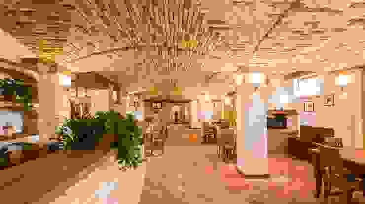 Risultato finale - sala da pranzo Progetti Abitativi LAB Hotel in stile rustico