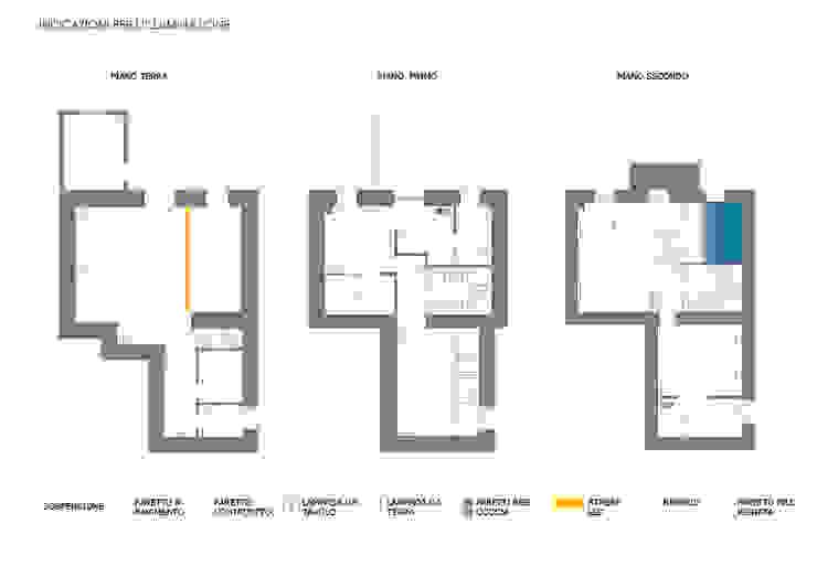 Report Esempio_Progetto a Distanza: Casa Lm . antonio felicetti architettura & interior design Ingresso, Corridoio & Scale in stile minimalista