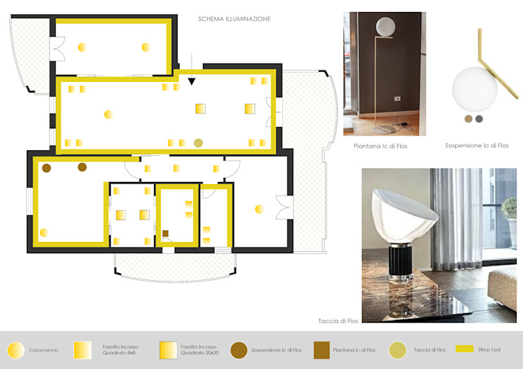 Report Esempio 2_Progetto a Distanza: La Casa di Marmo Sala da pranzo moderna di antonio felicetti architettura & interior design Moderno