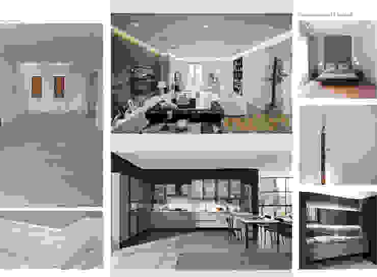 Report Esempio 2_Progetto a Distanza: La Casa di Marmo Soggiorno moderno di antonio felicetti architettura & interior design Moderno