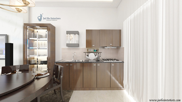 RESIDENCE INTERIORS Built-in kitchens Plywood White