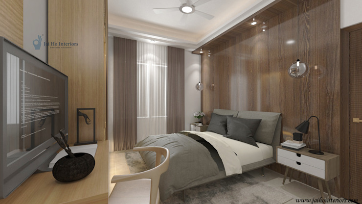 RESIDENCE INTERIORS Small bedroom Plywood White
