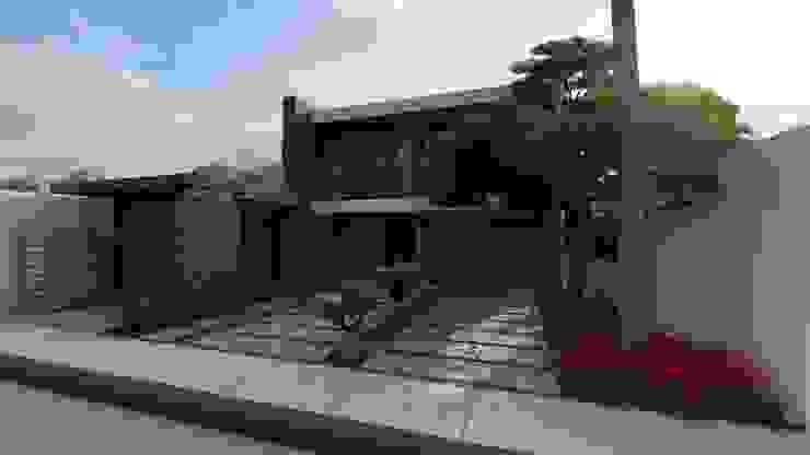 Fachada y accesos Dacsa Reynosa Viviendas colectivas Concreto Verde