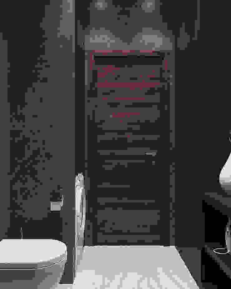 Студия дизайна 'INTSTYLE' ห้องน้ำ ไม้ Black
