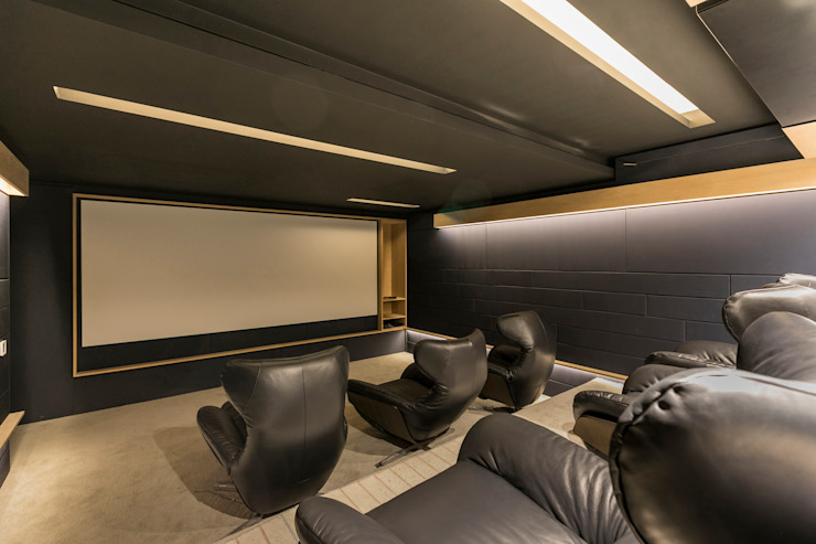 Nico Van Der Meulen Architects Modern media room