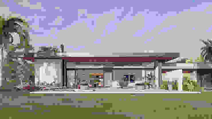 Дома в стиле модерн от Arquitetas Bianca e Bárbara Lehmkuhl Модерн Твердая древесина Многоцветный